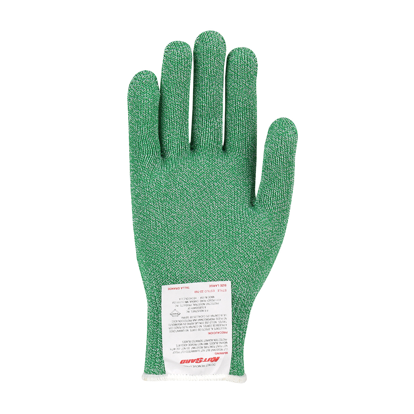#22-760GRN PIP Green Kut-Gard® Dyneema® Blended Cut Level A7 Antimicrobial Glove - Medium Weight