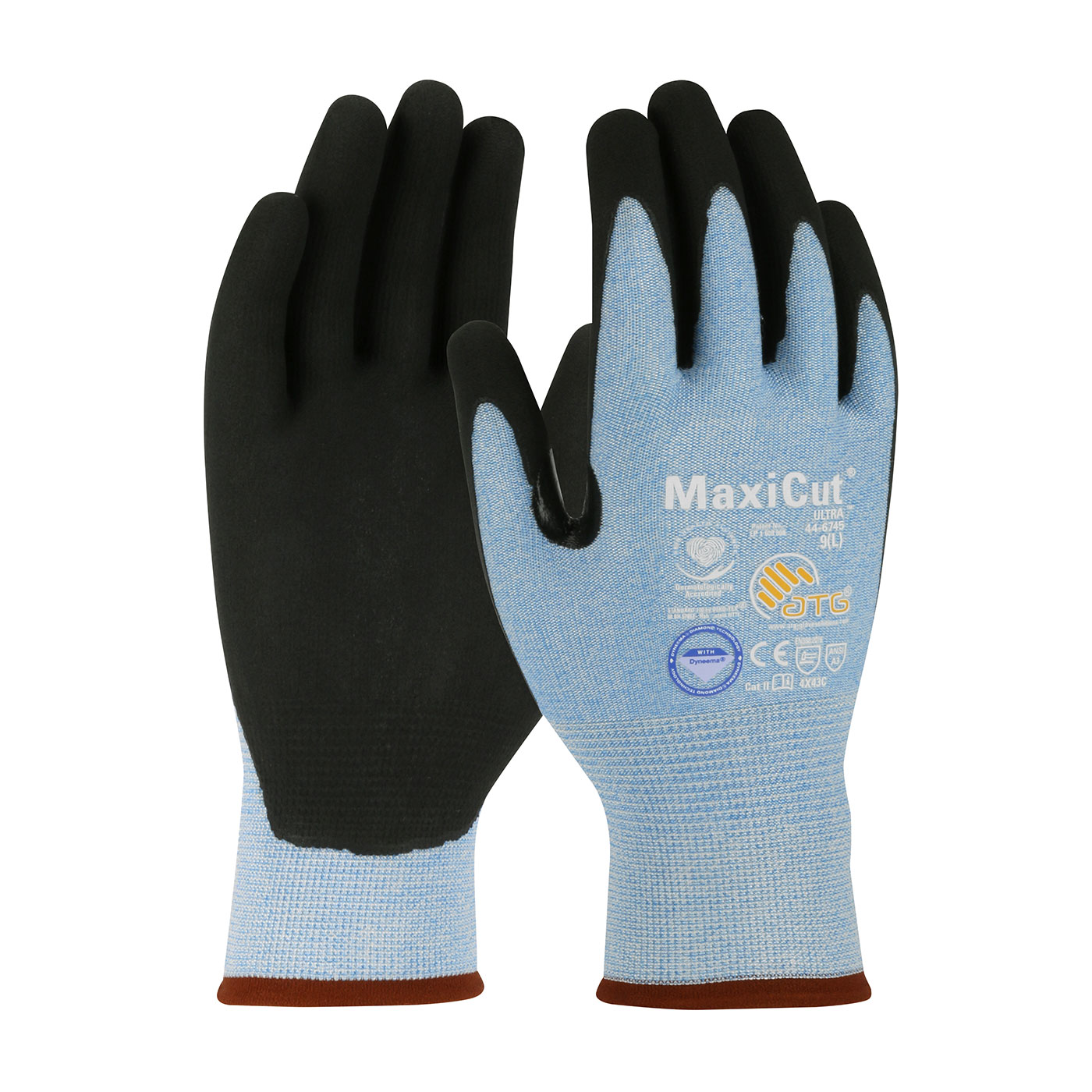 #44-6745 PIP® MaxiCut® Ultra™ Dyneema Diamond Seamless Knit Glove w/ Premium Nitrile Coated Micro-Foam Micro Dot Grip