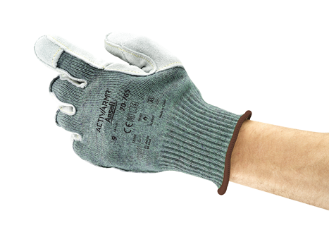 70-765 Ansell® ActivArmr® 70-765 Leather Reinforced  Cut and Heat Resistant Work Gloves