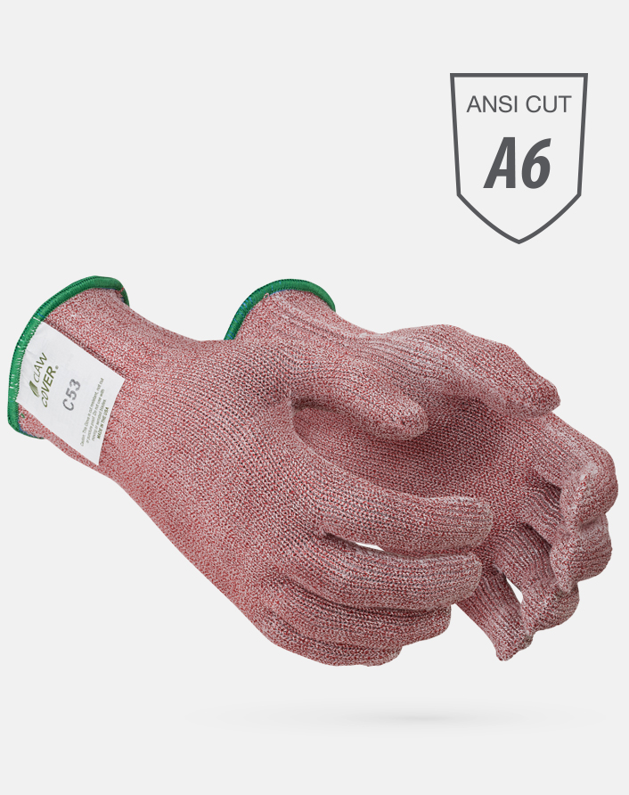 Red Claw Cover® ANSI Cut Level A6 String Knit Microban Foodservice Gloves