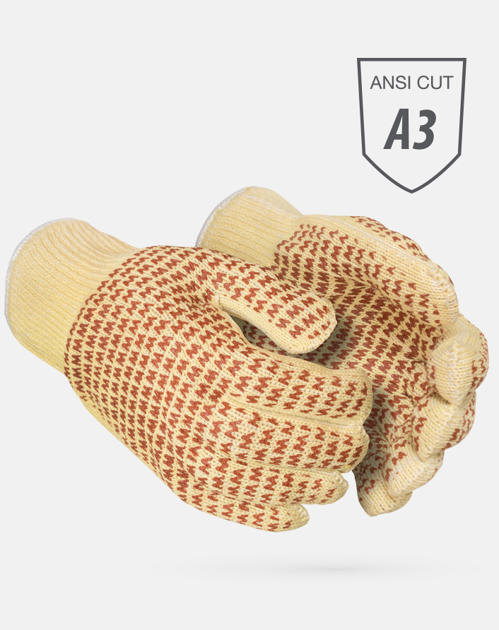 M2K30-NW2 Heat Resistant Kevlar Nitrile Patterned Gloves