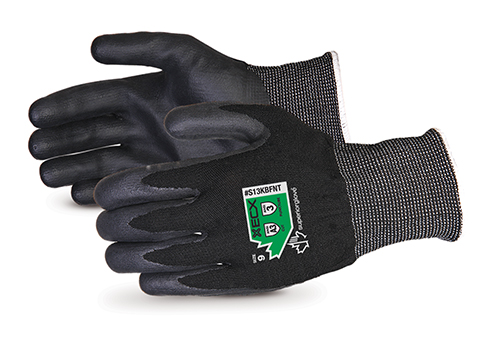 S13KBFNT Superior Glove® Emerald CX Lite™ 13-gauge Nylon/Stainless-Steel Cut Resistant Knit Work Gloves with Foamed-Nitrile Palms