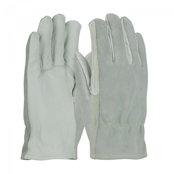 09-K3720 PIP® Top Grain Goatskin / Split Cowhide Leather Drivers Glove with Kevlar® Liner and Straight Thumbs