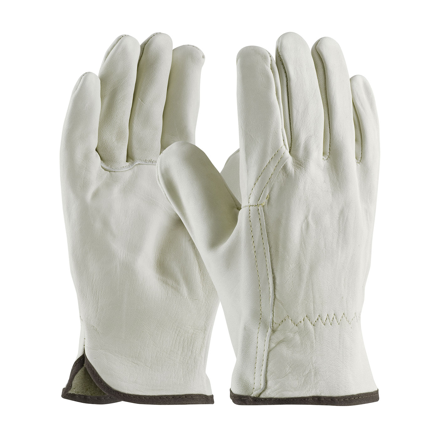 68-116 PIP® Superior-Grade Top Grain Cowhide Leather Drivers Glove w/ Wing Thumb