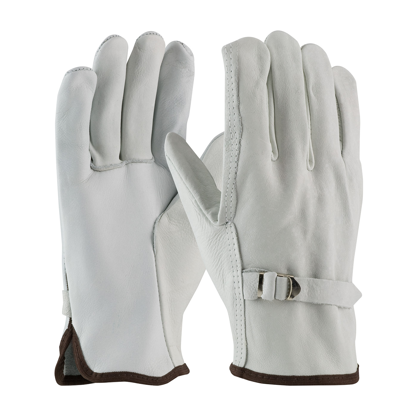 PIP® Superior Grade Top Grain Cowhide Leather Drivers Glove with Pull Strap Closure - Straight Thumb #68-158