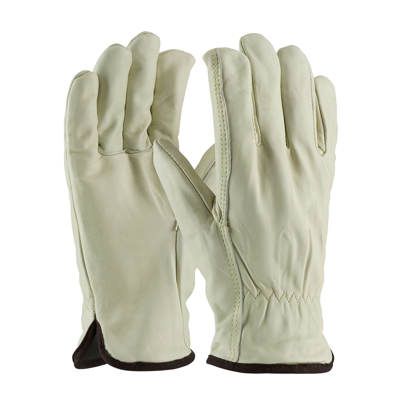 PIP® Premium Grade Top Grain Cowhide Leather Glove with White Thermal Lining w- Straight Thumb #77-218