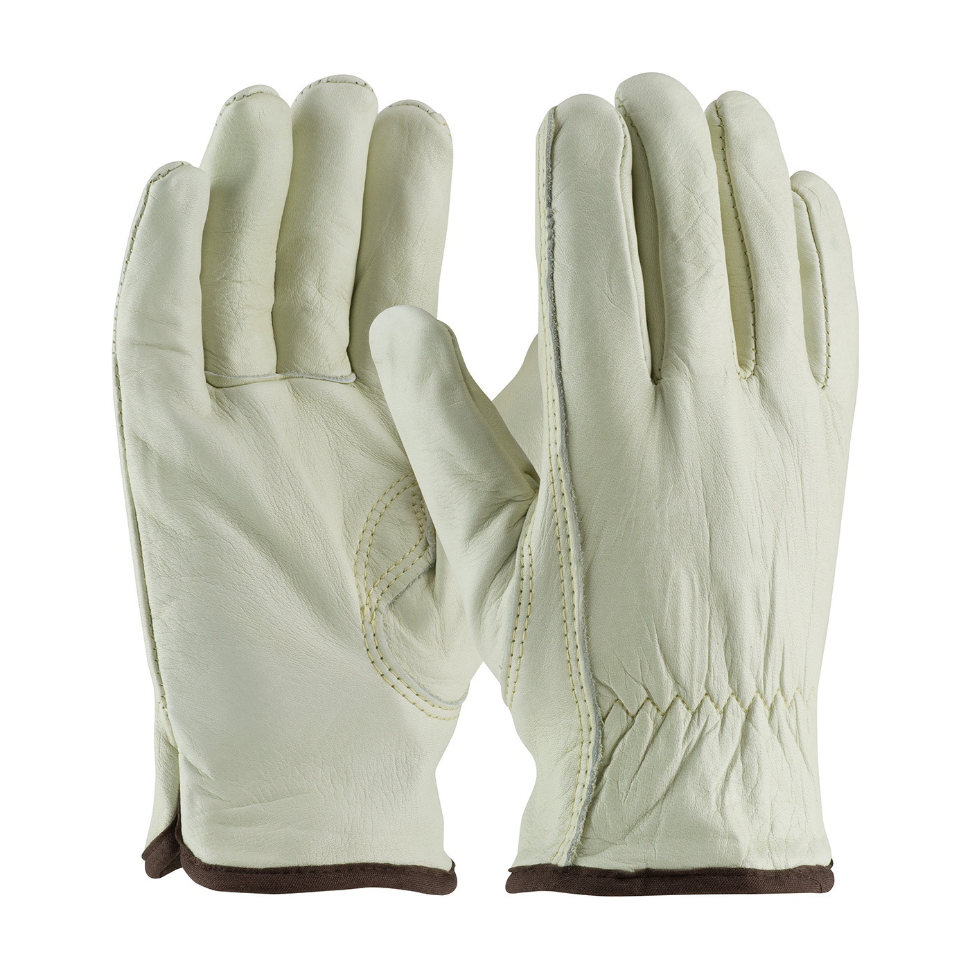 PIP® Top Grain Cowhide Leather Glove with Red Thermal Lining - Keystone Thumb #77-268