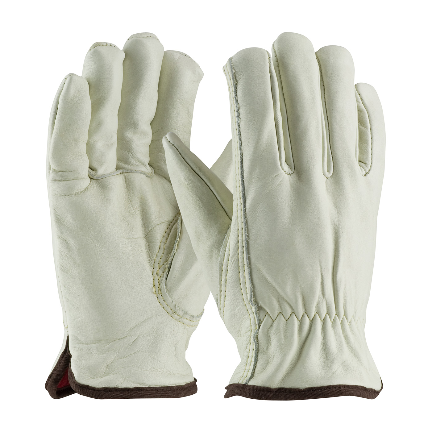 PIP® Premium Grade Top Grain Cowhide Leather Glove with Red Foam Lining and Keystone Thumb #77-268