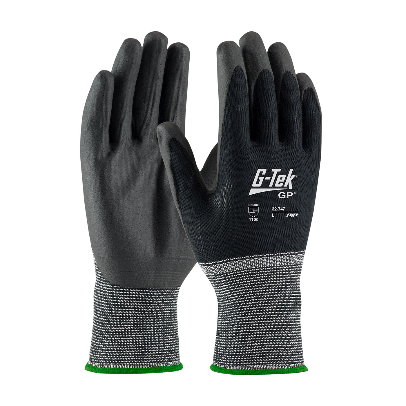 PIP G-Tek® GP™ Seamless Knit Nylon Glove with Air-Infused PVC Coating on Palm & Fingers #32-747