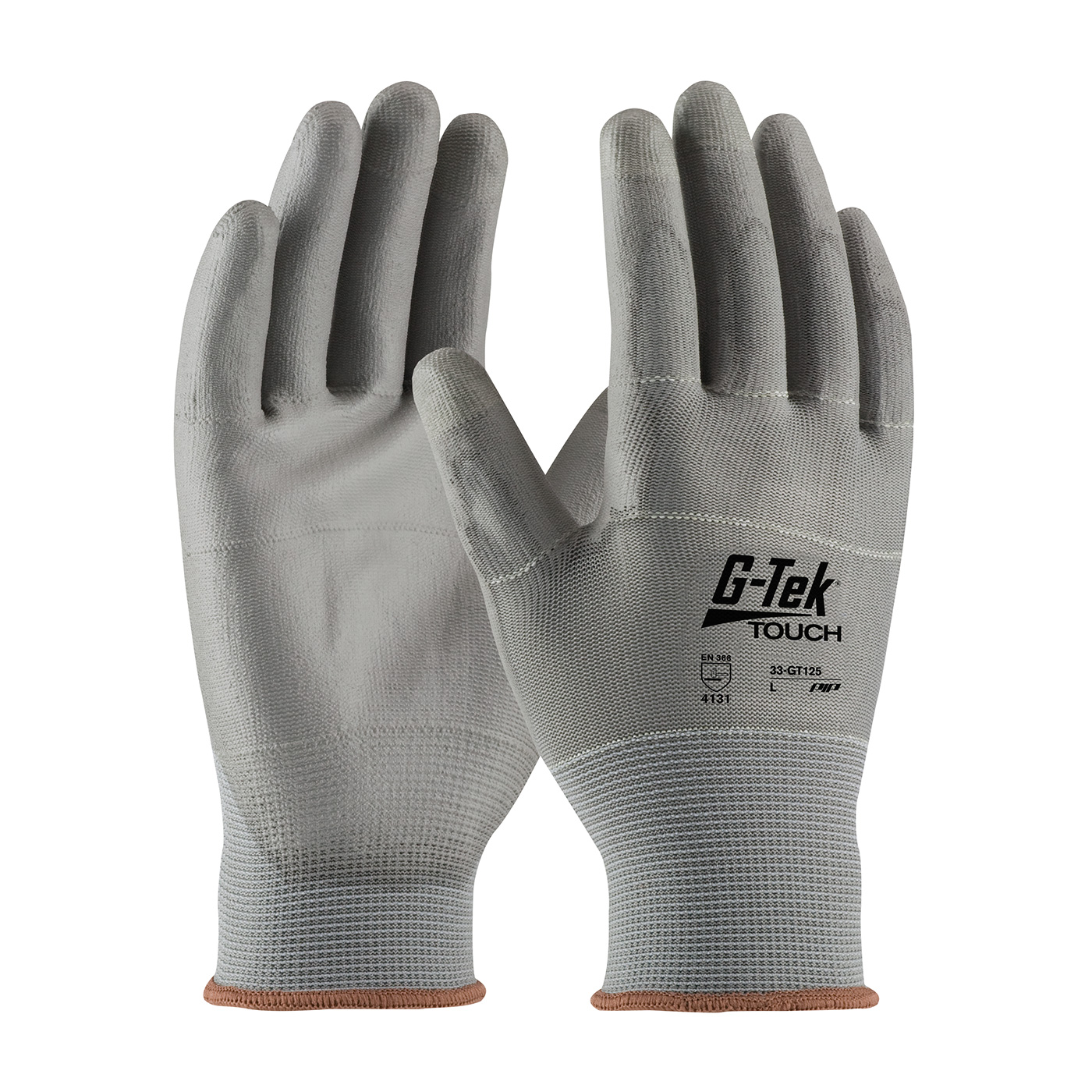 33-GT125 PIP® G-Tek® Touch Screen Compatible PU Coated General Duty Work Gloves
