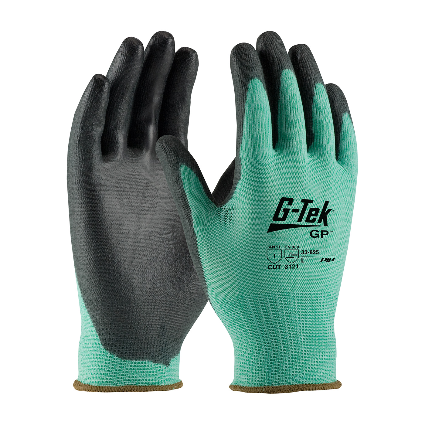 PIP G-Tek® GP™ Seamless Knit Nylon Glove with Polyurethane Coated Smooth Grip on Palm & Fingers #33-825