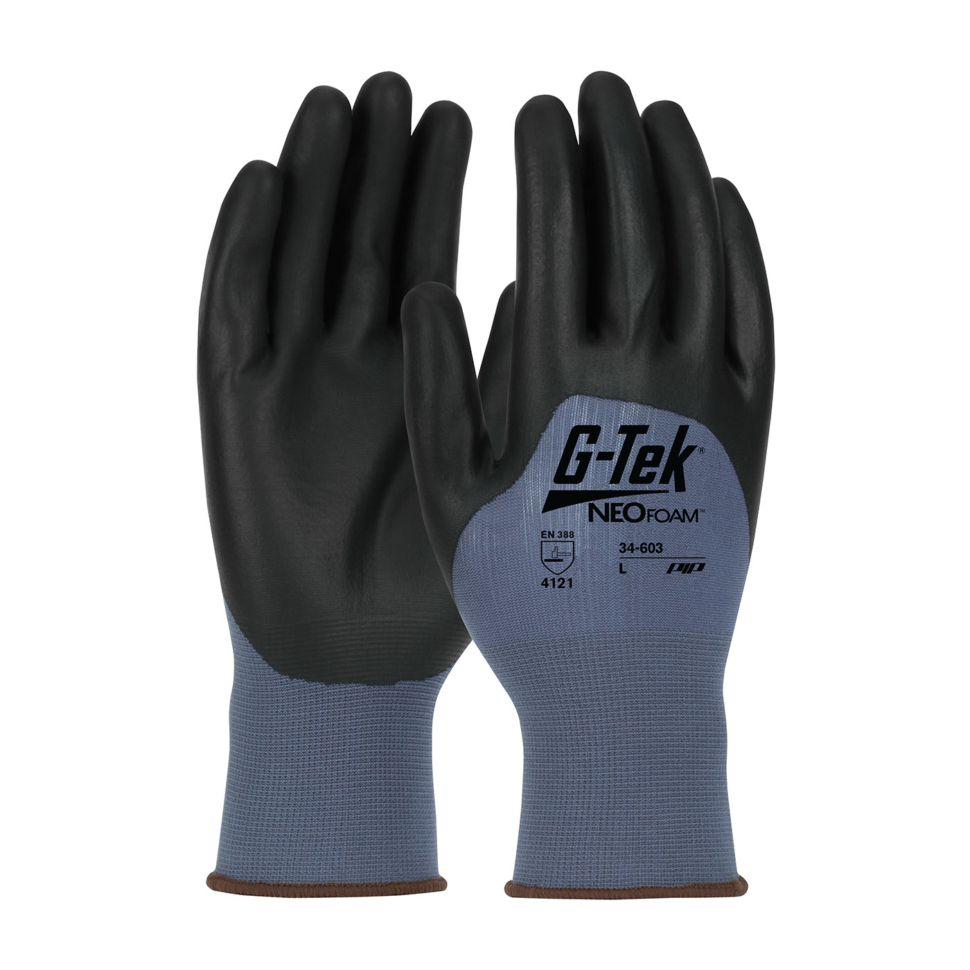 #34-603 PIP® G-Tek® Seamless Nylon Knit Gloves with Neofoam Coated Palms, Fingers and Knuckles