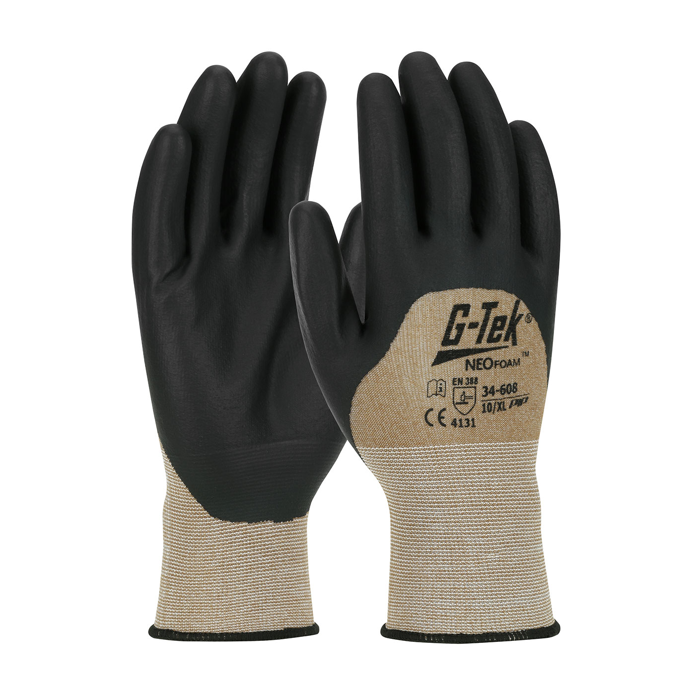 #34-608 PIP® G-Tek® Seamless Nylon Knit Gloves with Neofoam Coated Palms, Fingers and Knuckles