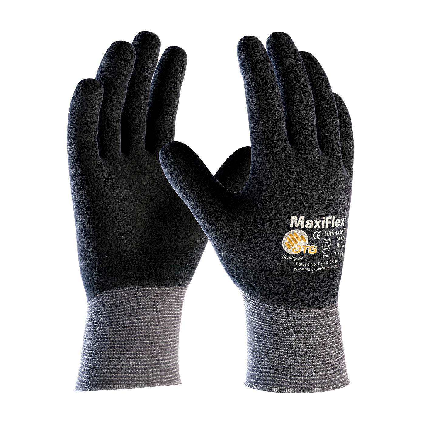 #34-876 PIP® MaxiFlex® Ultimate™ Seamless Knit Nylon / Lycra Glove with Nitrile Coated MicroFoam Grip on Full Hand