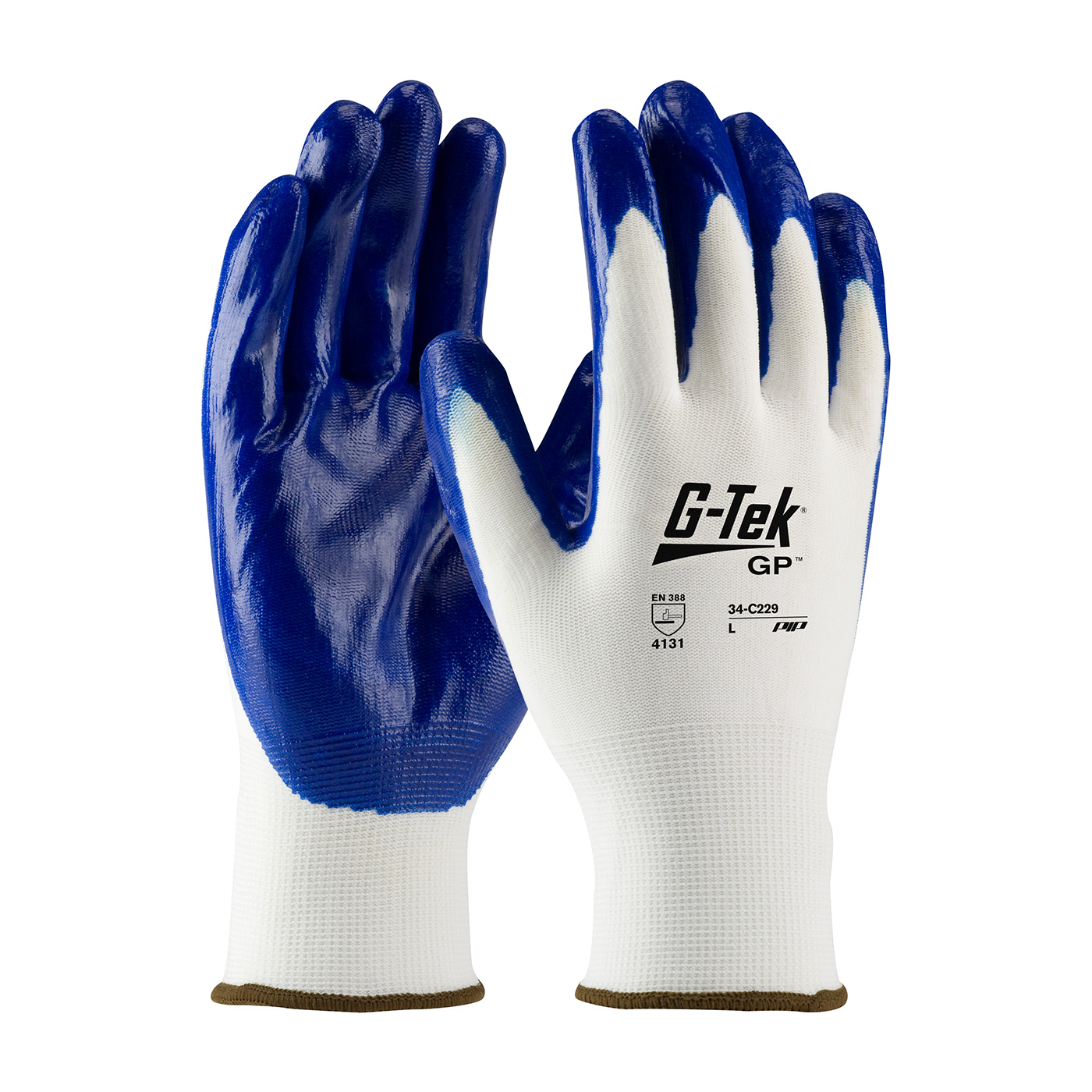 PIP® G-Tek® GP™ Seamless Knit Nylon Glove with Nitrile Coated Smooth Grip on Palm & Fingers #34-C229
