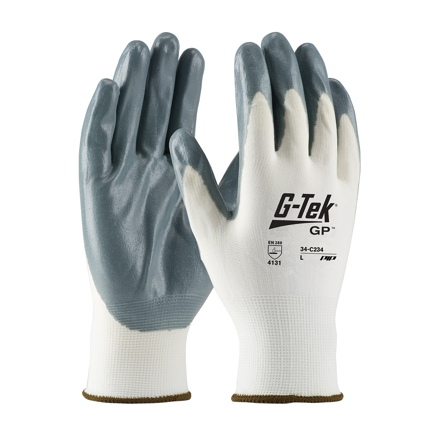 #34-C232 PIP® G-Tek® GP™ Seamless Knit Nylon Glove with Nitrile Coated Foam Grip on Palm & Fingers - Economy Grade