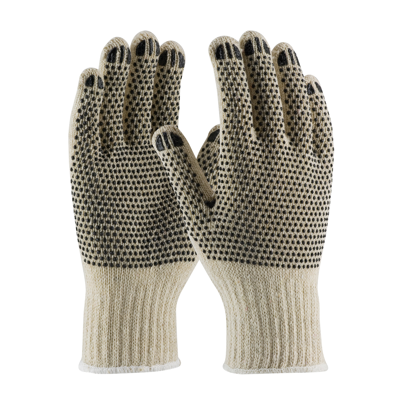 PIP® Seamless Knit Cotton / Polyester Glove with Double-Sided PVC Dot Grip - Regular Weight #36-110PDD