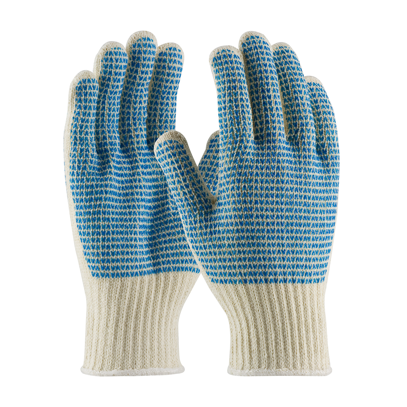 PIP® Seamless Knit Cotton / Polyester Glove with Double-Sided PVC `V` Pattern Grip - Heavy Weight #36-110VV