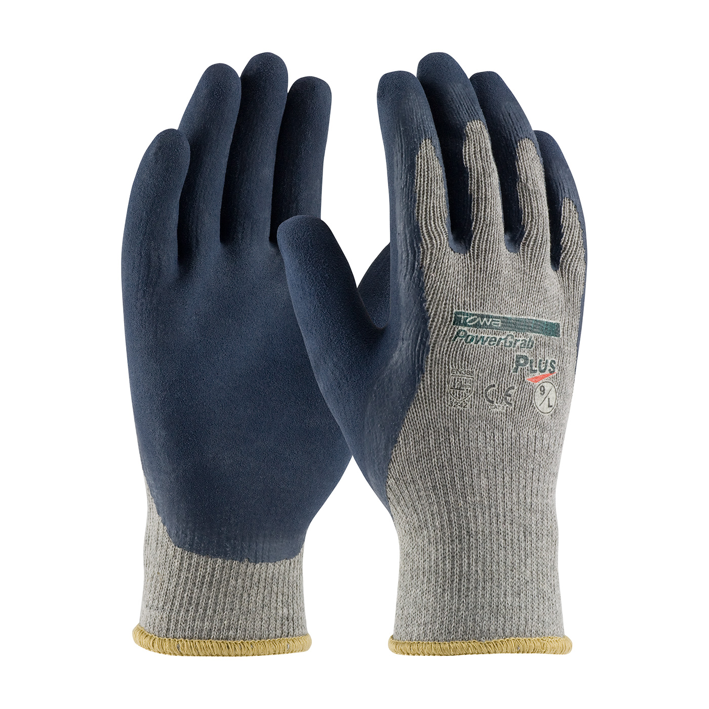 PIP® PowerGrab™ Plus Seamless Knit Cotton / Polyester Glove with Latex Coated MicroFinish Grip on Palm & Fingers #39-C1600