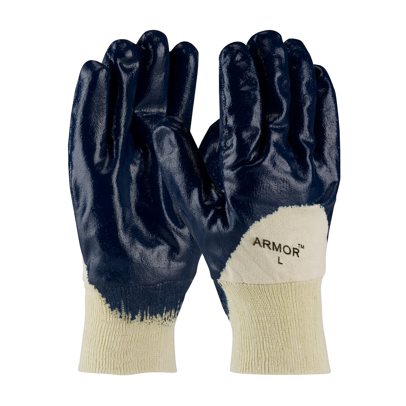 56-3151 PIP® ArmorGrip® Jersey Lined Nitrile Dipped Glove with Smooth Grip Texture and Knit Cuff