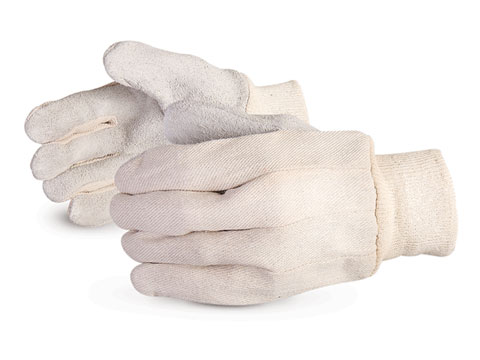 Superior Glove® Endura® Leather Palm Cotton Back Gloves