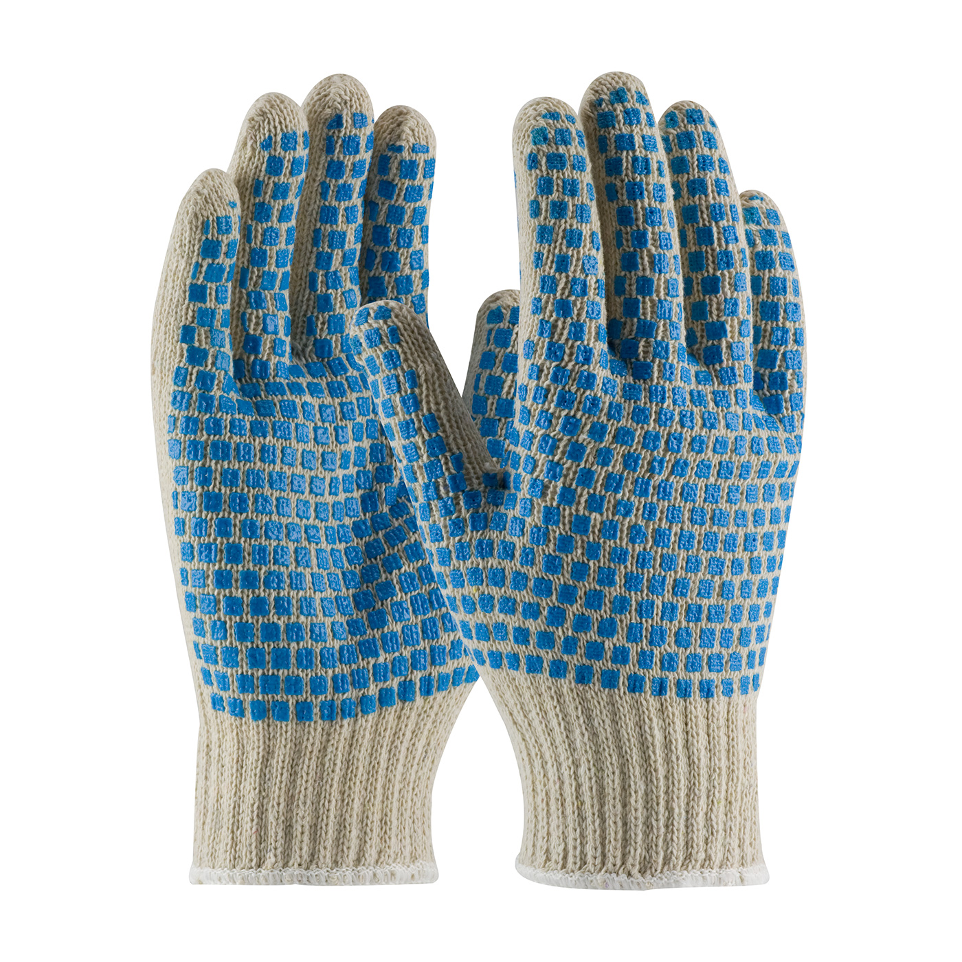 B710SBS PIP® Seamless Knit Cotton / Polyester Glove with Double-Sided PVC Brick Pattern Grip