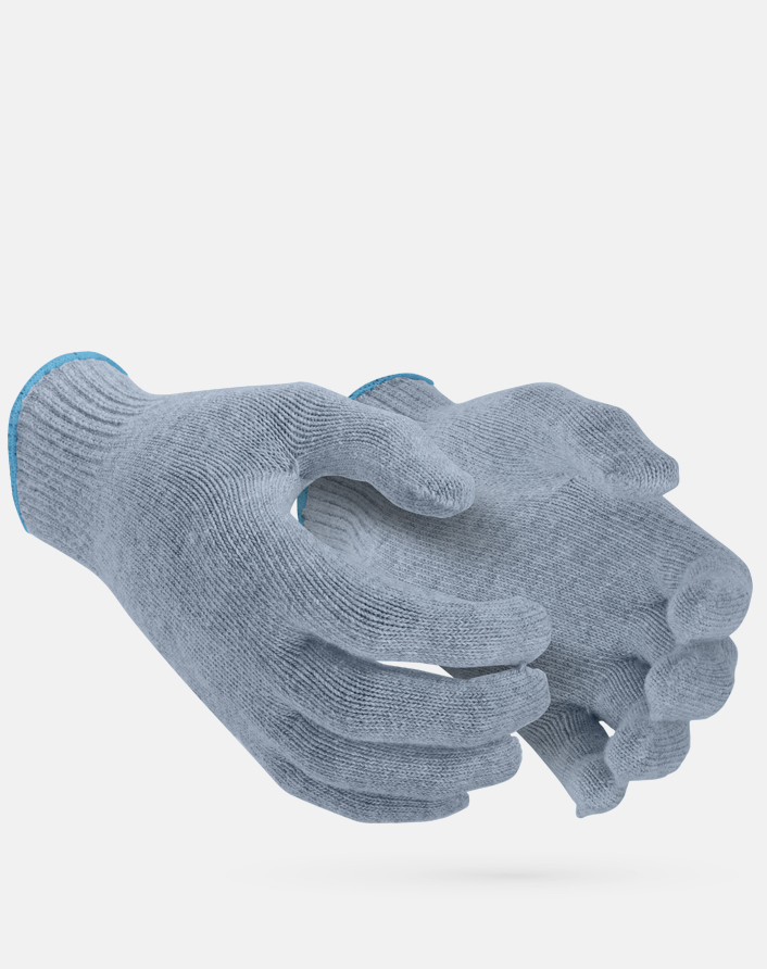 Recycled Post-Consumer Plastic Seamless Knit Work Gloves