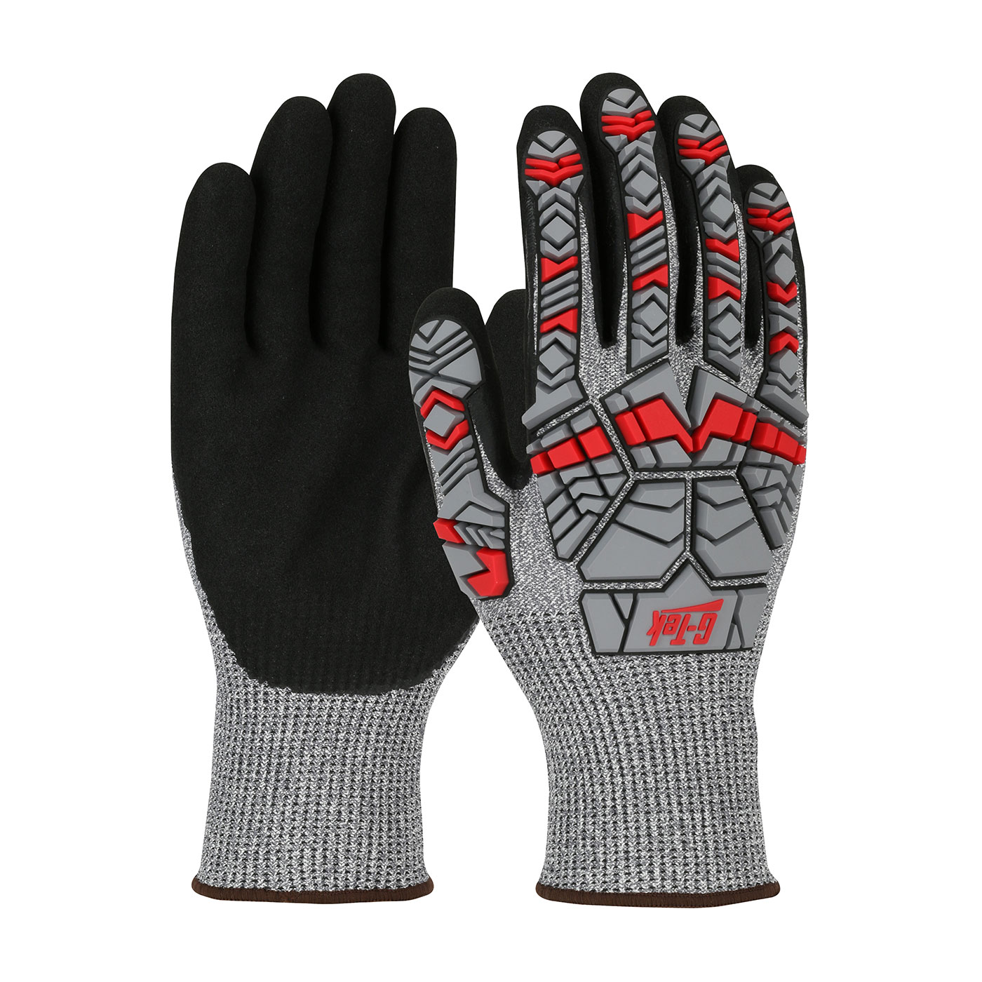 16-MPH430 PIP® G-Tek® Seamless Knit PolyKor® Blended Glove with Impact Protection and Double-Dipped Nitrile Coated MicroSurface Grip on Palm & Fingers