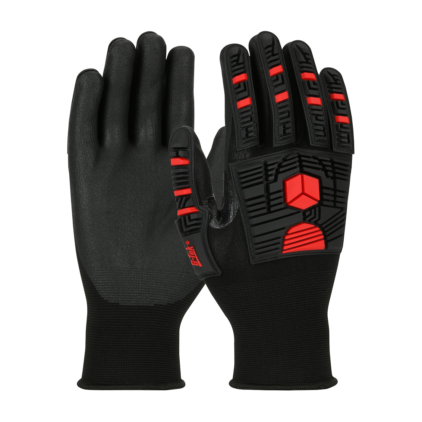 34-MP155 PIP® G-Tek® GP™ Seamless Knit Nylon Glove with Impact Protection and Nitrile Coated Foam Grip on Palm & Fingers