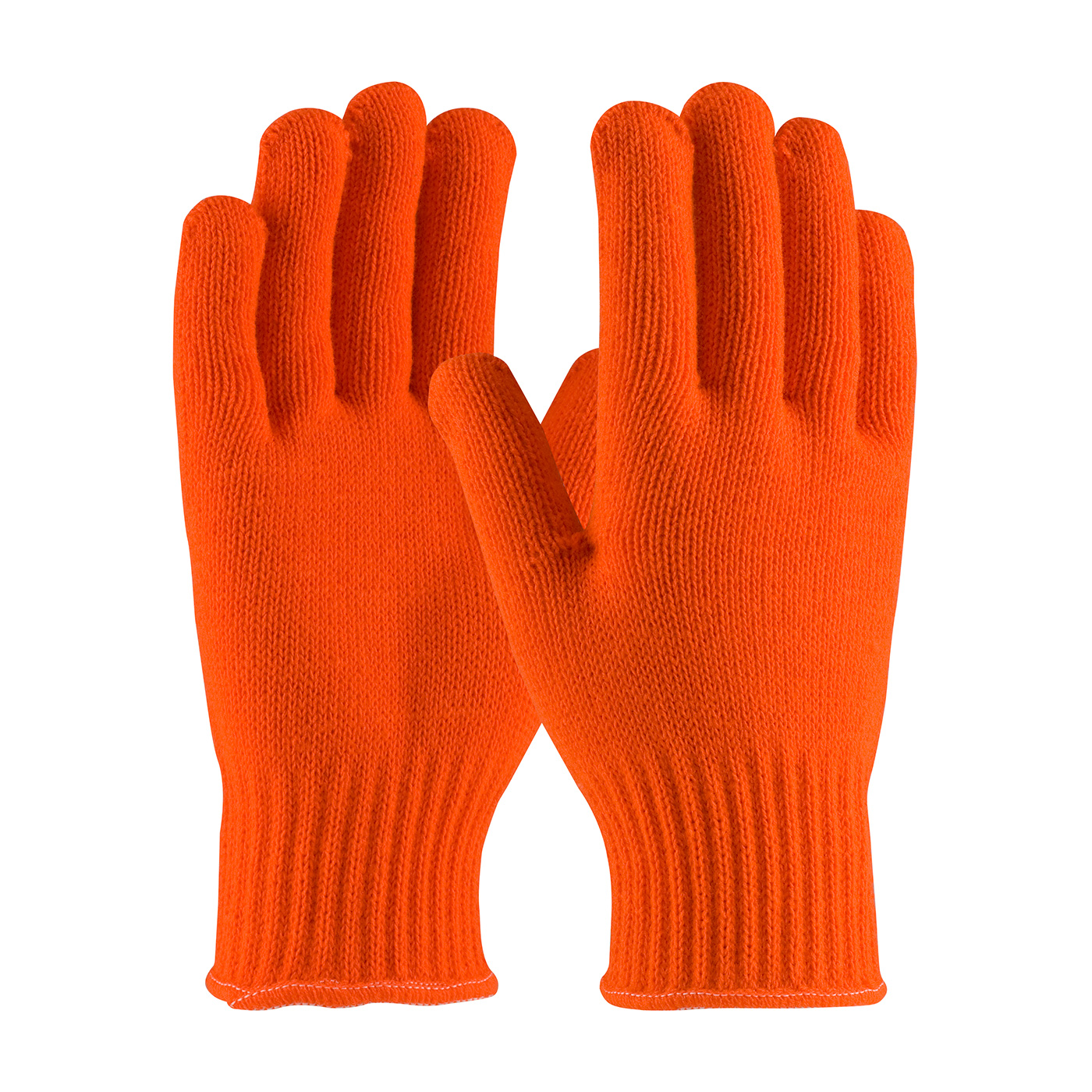 #41-013 PIP® Hi-Vis Orange Seamless Knit Acrylic Gloves