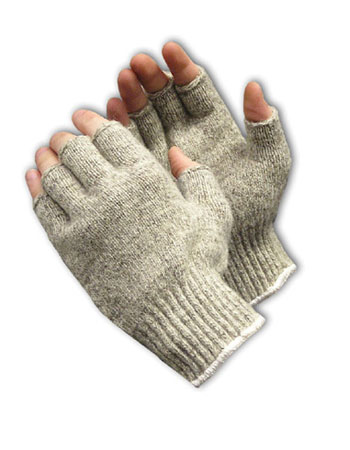 #41-075 PIP® Seamless Knit Ragwool Glove - Half-Finger