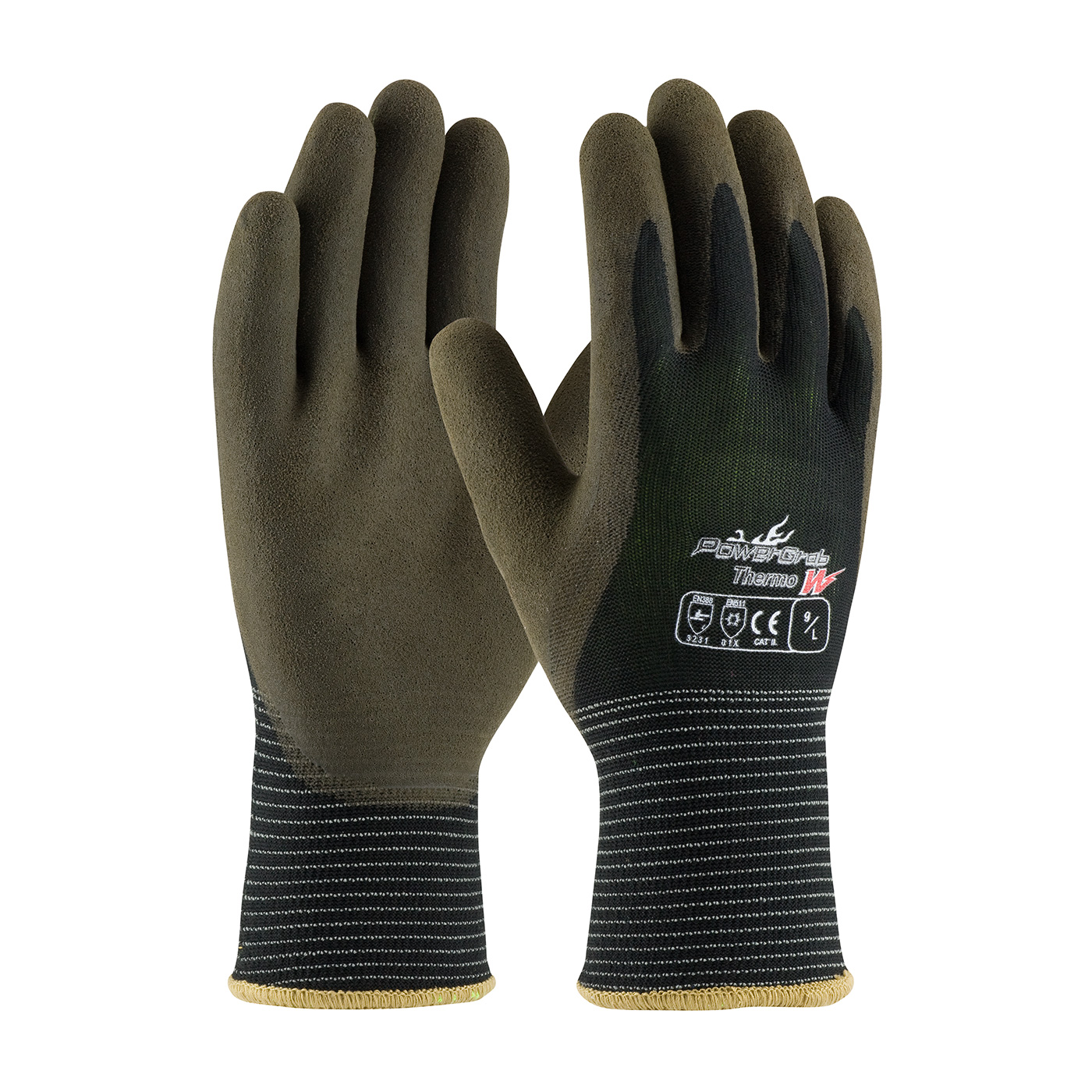 #41-1430 PIP owerGrab™ Thermo Seamless Knit Nylon Glove with Acrylic Liner and Latex MicroFinish Grip on Palm & Fingers