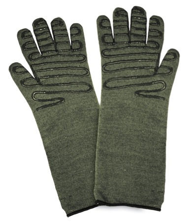 #43-859 PIP® Kut Gard®  Kevlar® / Preox Seamless Knit Hot Mill Glove with Cotton Liner and Double-Sided SilaGrip™ Coating - Extended Cuff
