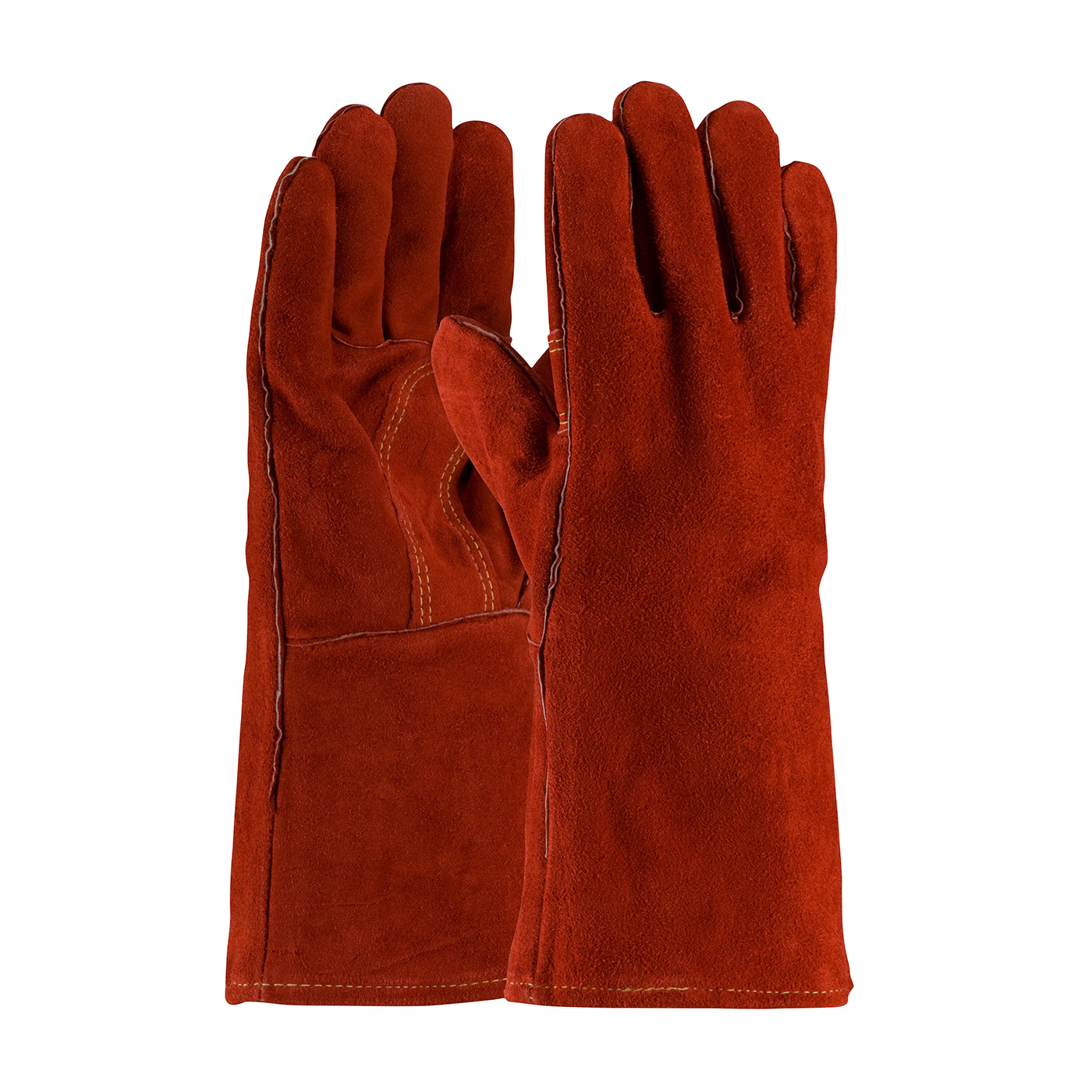 #73-7015 PIP® Red Viper™ Select Shoulder Split Cowhide Leather Welder's Glove with Cotton Liner and Kevlar® Stitching