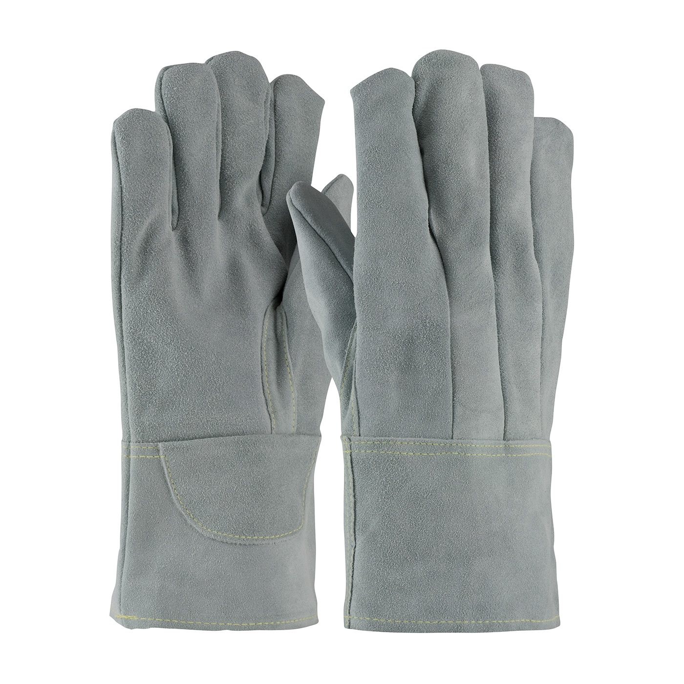 #74-SC7104 PIP® Heavy Side Split Cowhide Foundry Glove with Leather Gauntlet Cuffs, Wool Liner and Kevlar® Stitching