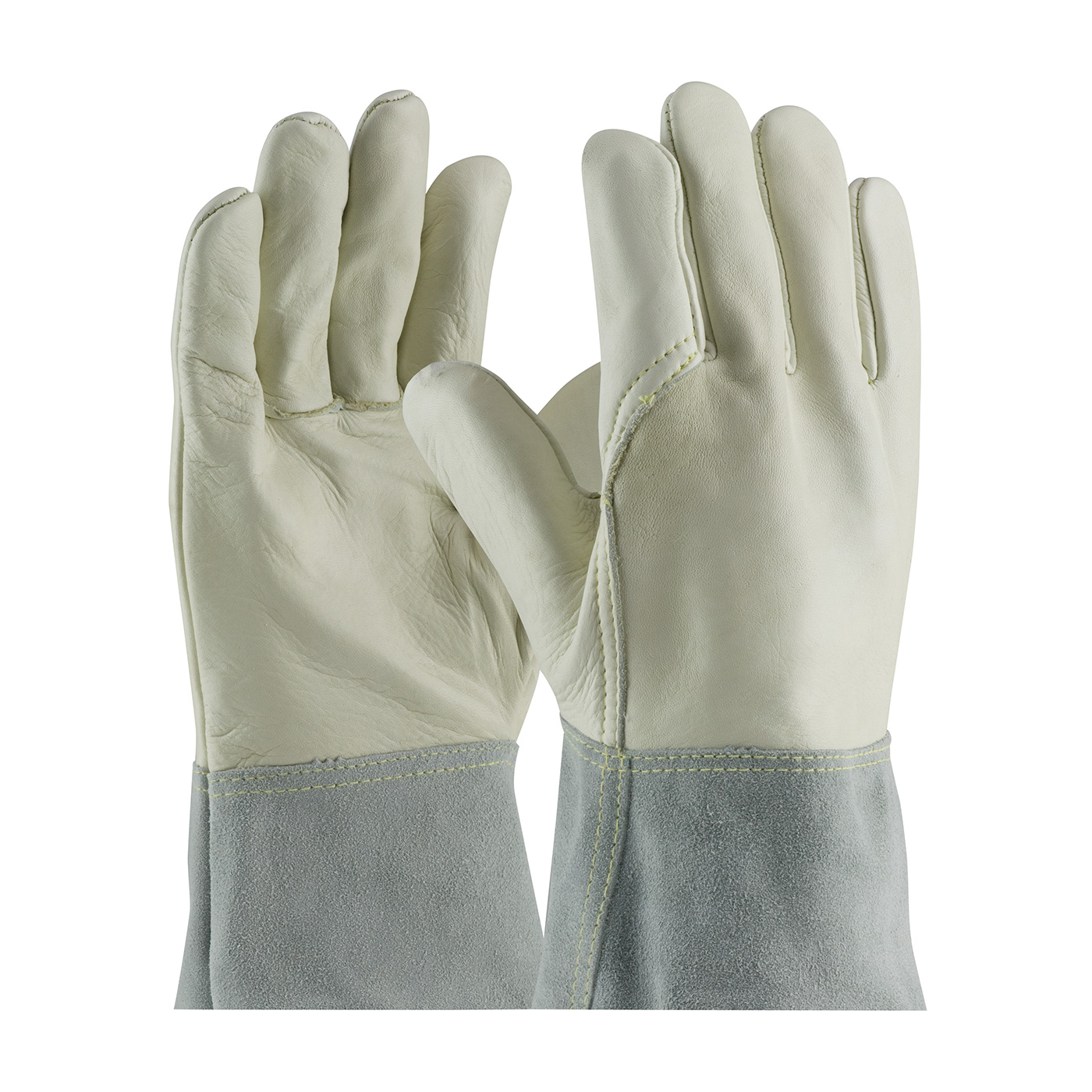 #75-2022 PIP® Top Grain  Cowhide Leather Mig Tig Welder's Gloves with Split Leather Band Top and Kevlar® Stitching