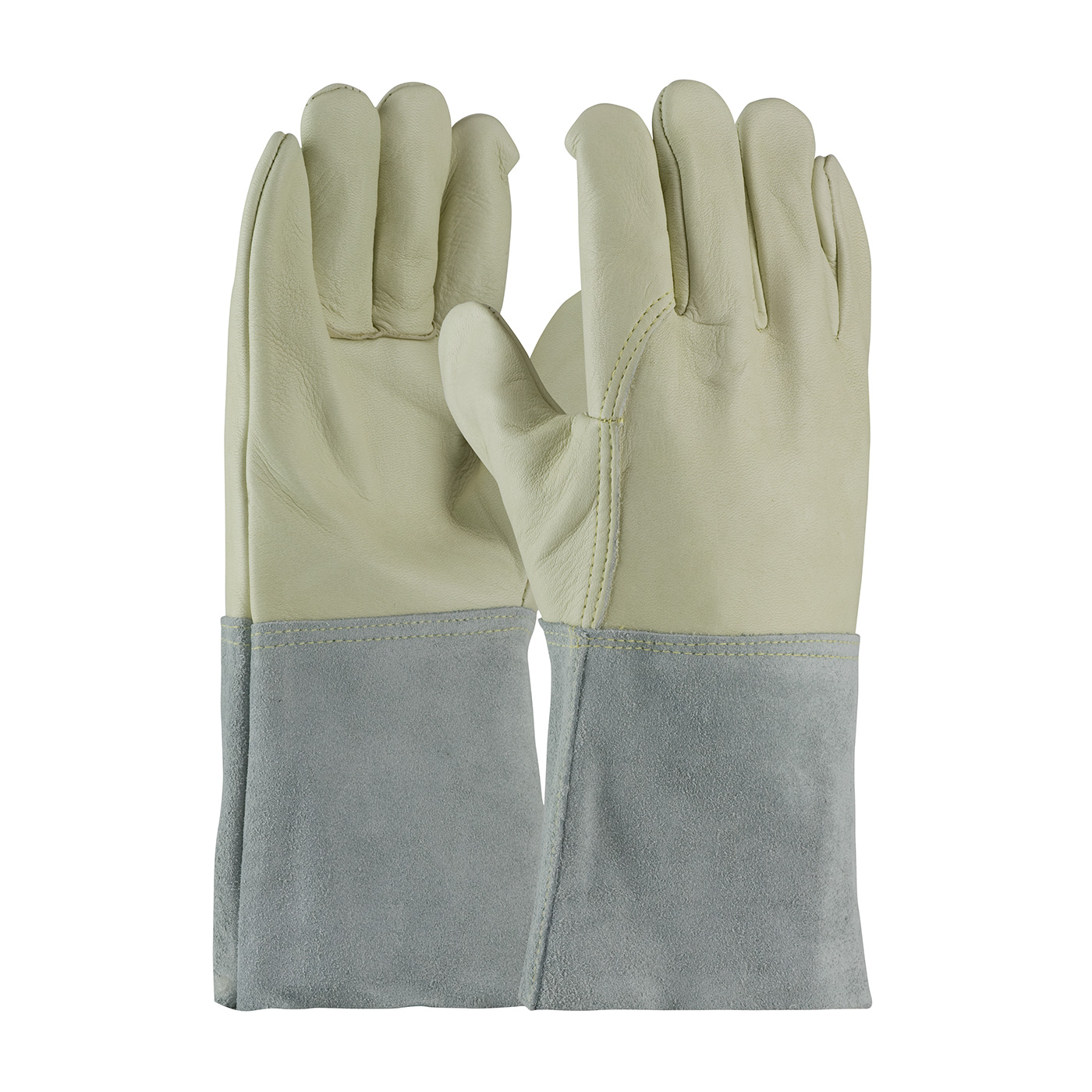 #75-2022 PIP® Top Grain  Cowhide Leather Mig Tig Welder's Gloves with Leather Band Top and Kevlar® Stitching