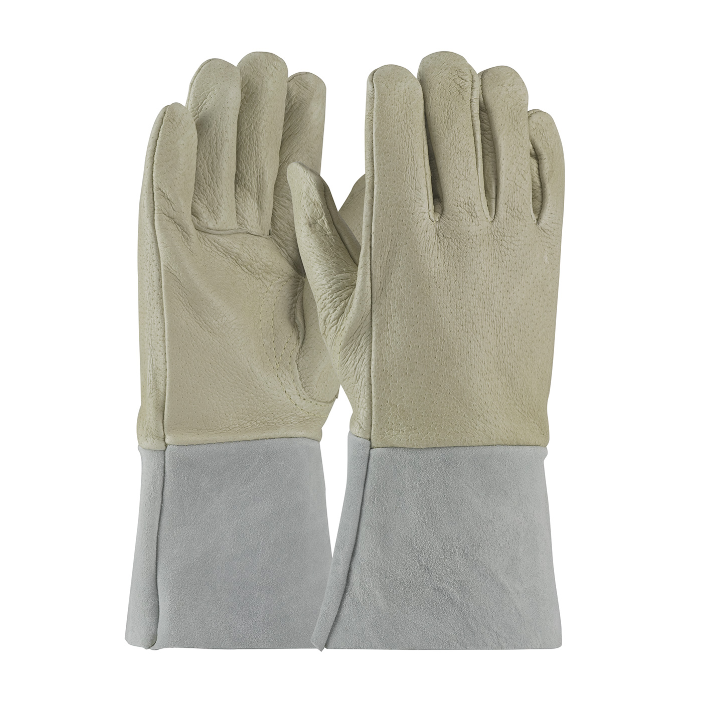 75-320 PIP® Top Grain Pigskin Leather Mig Tig Welder's Glove with Kevlar® Stitching and Split Leather Gauntlet Cuff
