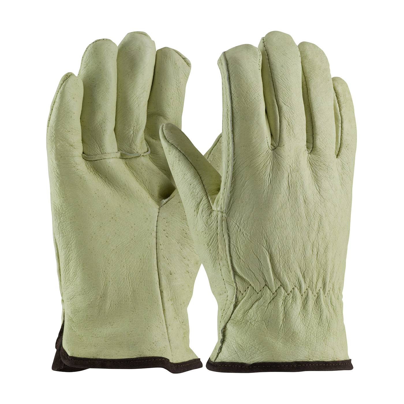 77-418 PIP® Top Grain Pigskin Leather Glove with White Thermal Lining - Straight Thumb
