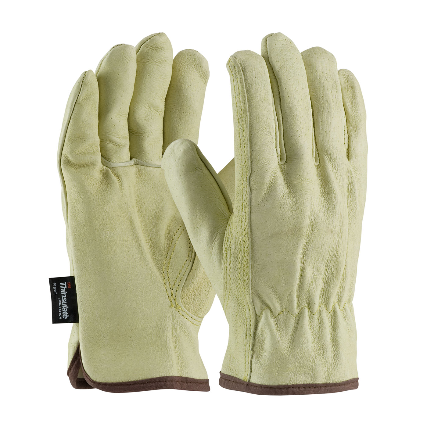 PIP® Premium Grade Top Grain Pigskin Leather Glove with 3M™ Thinsulate™ Lining - Keystone Thumb. #77-469