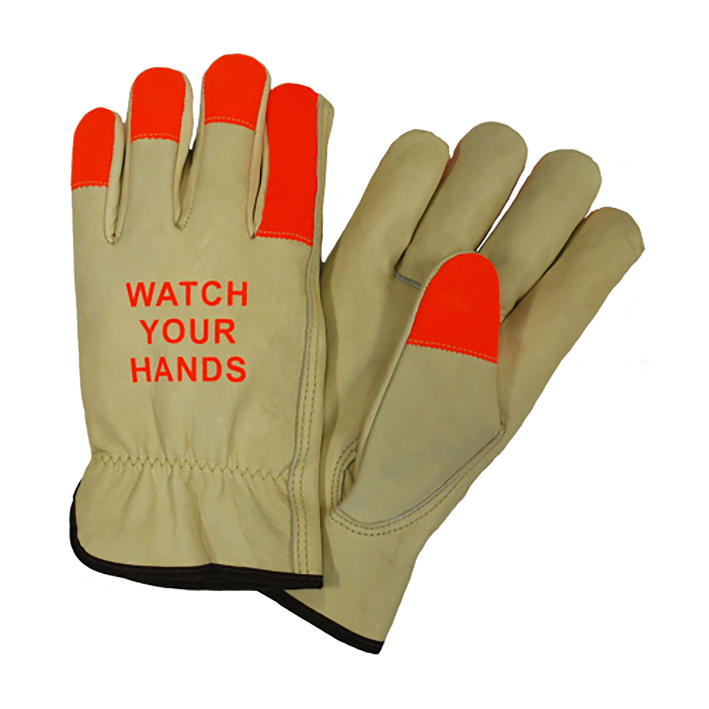 994KOTP PIP® Posi-Therm® Regular Grade Top Grain Pigskin Leather Drivers Glove with Posi-Therm® Linging and Hi-Vis Fingertips - Keystone Thumb