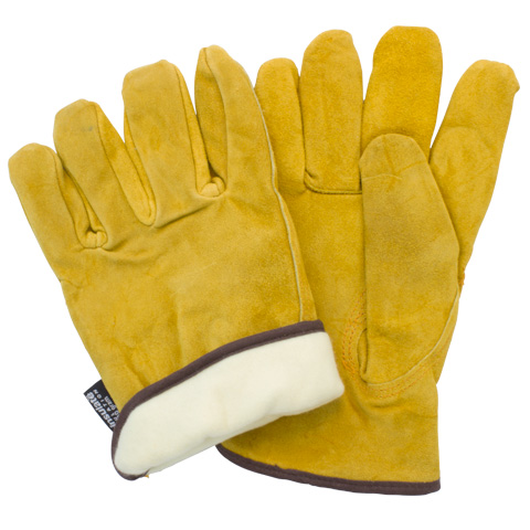#GLL1-(SIZE)-P7A-T Safety Zone® Russett Cow Leather Driver's Gloves with Thinsulate Lining