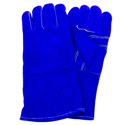 #GLW1-MN-W9A Safety Zone® Blue Gunn Cut Leather Welder's Gloves