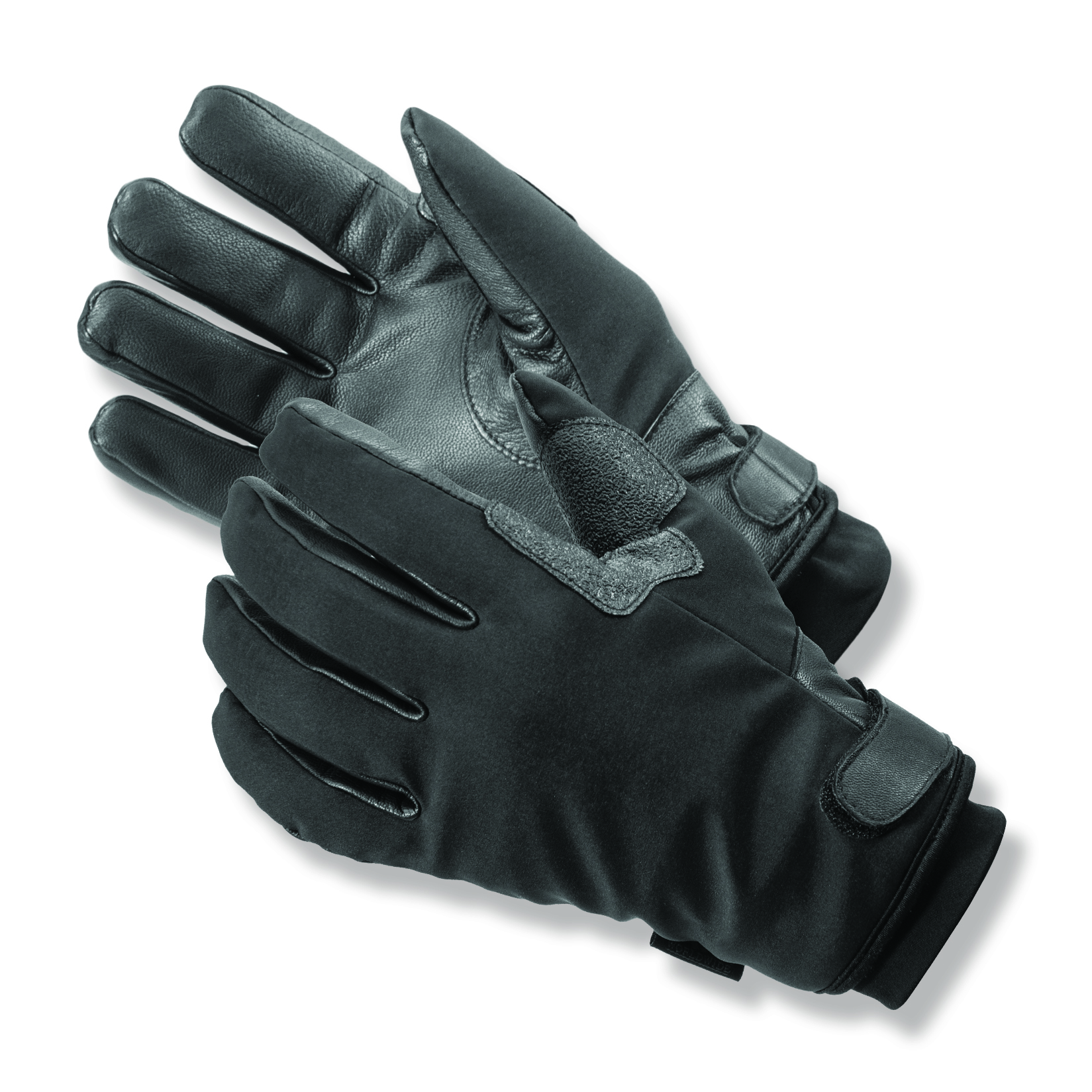 Storm Trooper™ Moisture Managing Micro Fleece Lined  Black Leather Palm and Stretch Nylon Back Winter Uniform Gloves