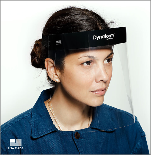 DFSM-1-10 Dynatomy™ Disposable Face Shields