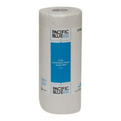 27385 GP PRO Pacific Blue Select™ 2-Ply Perforated Roll Towel, White