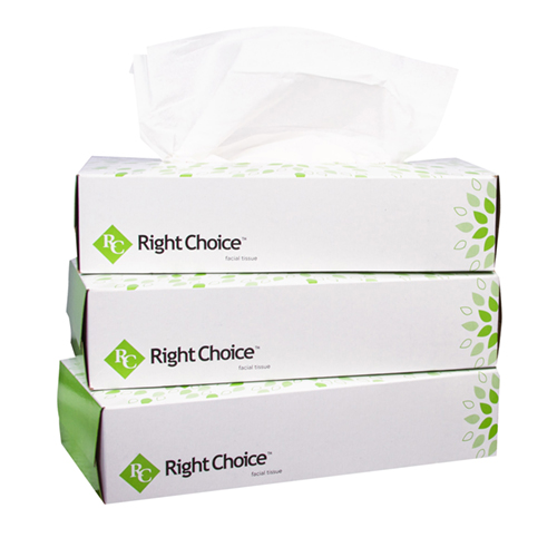 1190 Right Choice™ 2-ply Boxed Facial Tissue
