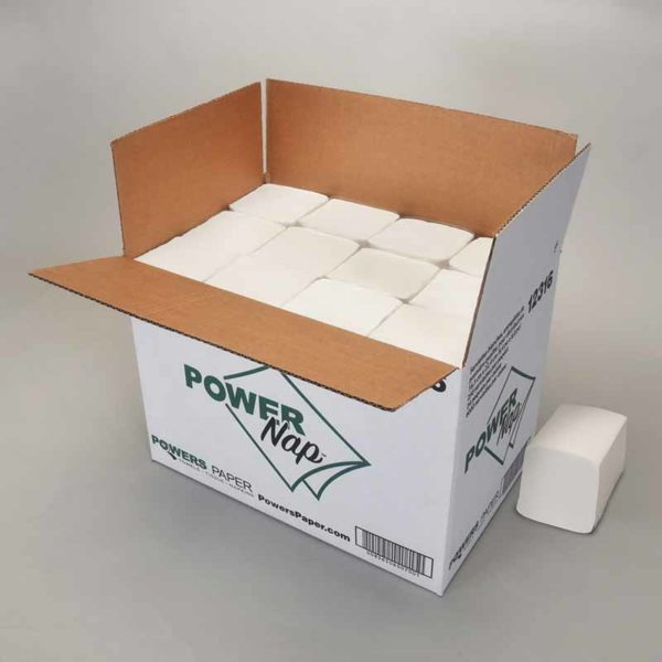 12316 Power Paper PowerNap®  Premium white interfold dispenser napkin