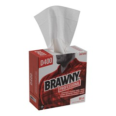 20070/03  GP PRO Brawny® Professional D400 Disposable Cleaning Towel, Tall Box, White