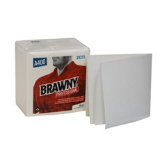 29215 GP PRO Brawny® Professional A400 Disposable Cleaning Towel, 1/4-Fold, White